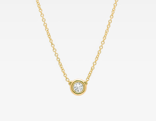 Dainty Diamond Necklace in Yellow Gold