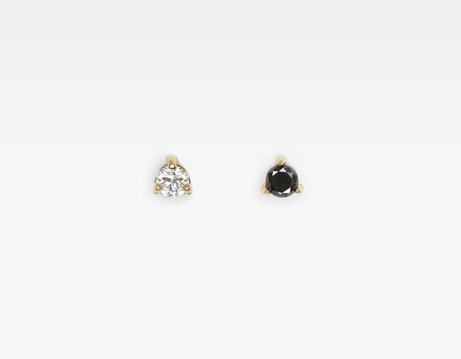 Oreo black and white diamond studs