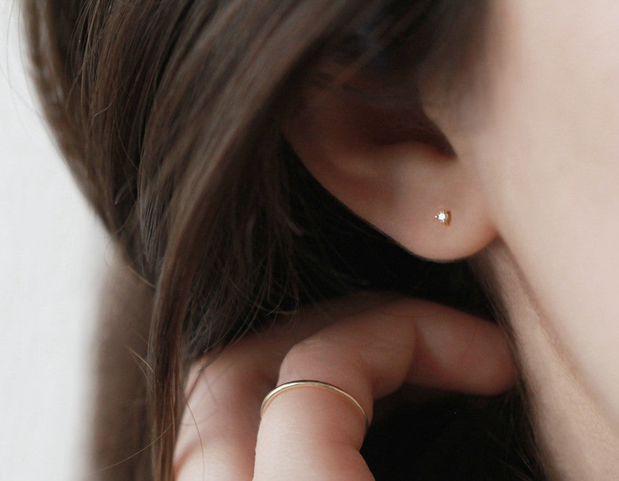 little diamond earring