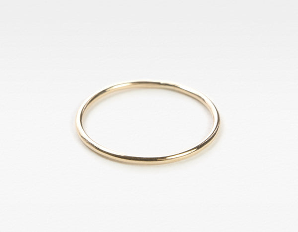 Yellow Gold Skinny Stacking Ring