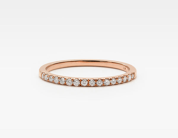 Dainty Diamond Eternity Band in Rose Gold