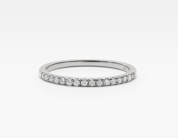 Dainty Diamond Eternity Band in White Gold