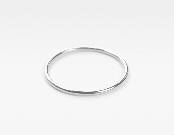 white gold skinny stacking ring