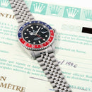 Rolex 1996 SS GMT-Master Pepsi Bezel on Jubilee Band 16700 model w / Original Box - Papers - Tags