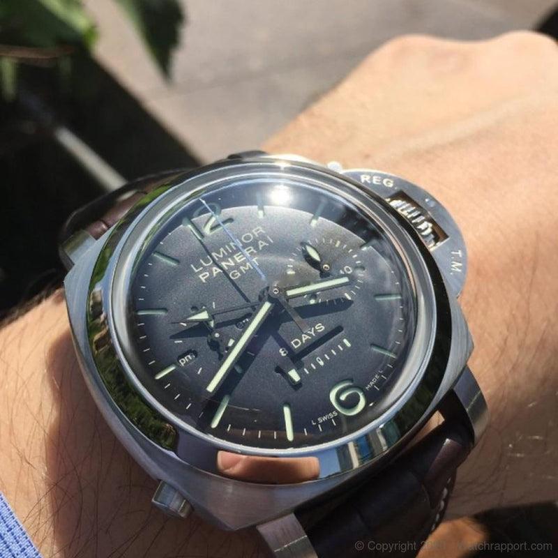 Panerai Luminor Collection Luminor 1950 8 Days GMT Monopulsante Chronograph - Watch Rapport
