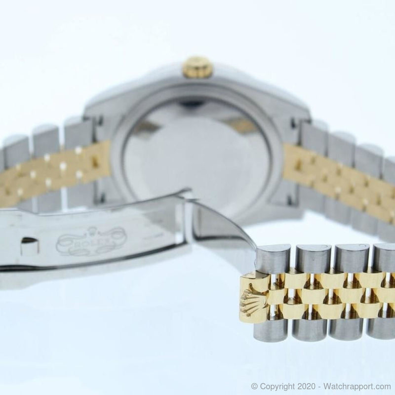 Rolex DATEJUST 116243 STEEL & GOLD WATCH BLACK DIAMOND DIAL & DIAMOND BEZEL - Watch Rapport