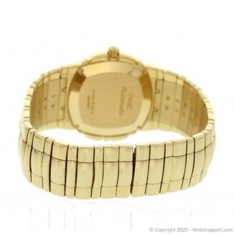 Piaget Tanagra AUTOMATIC Full Yellow Gold Bracelet Watch With Date, Circa 1990 - Watch Rapport