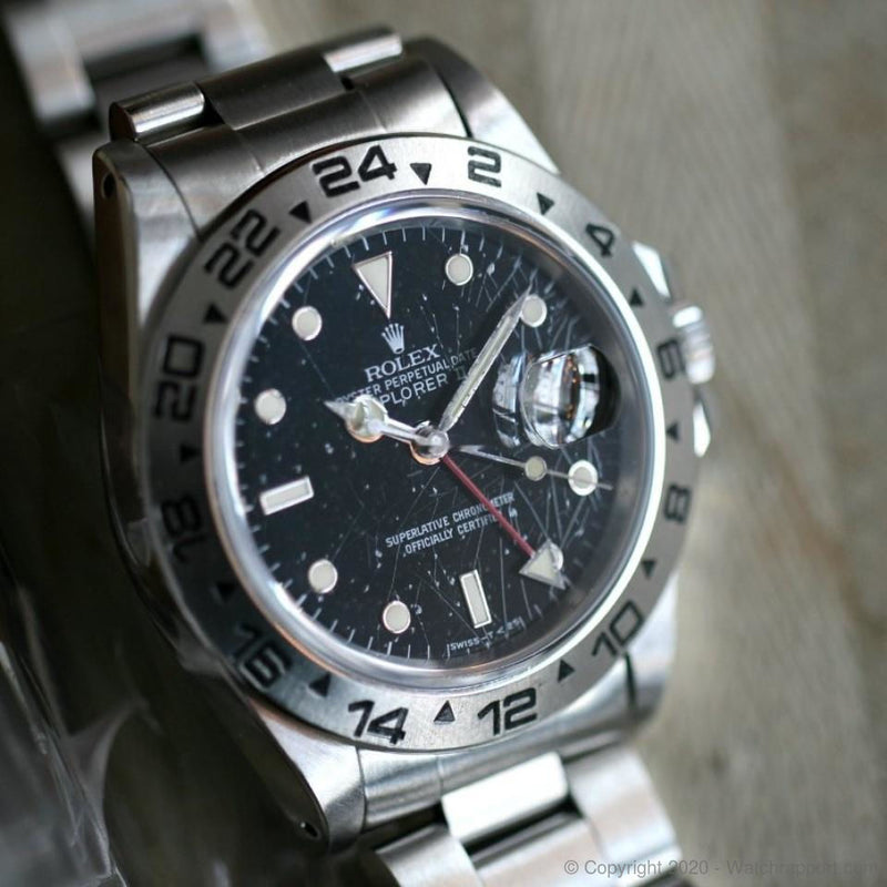 Rolex Explorer II 16550 with rare Rail Spider Dial - Watch Rapport