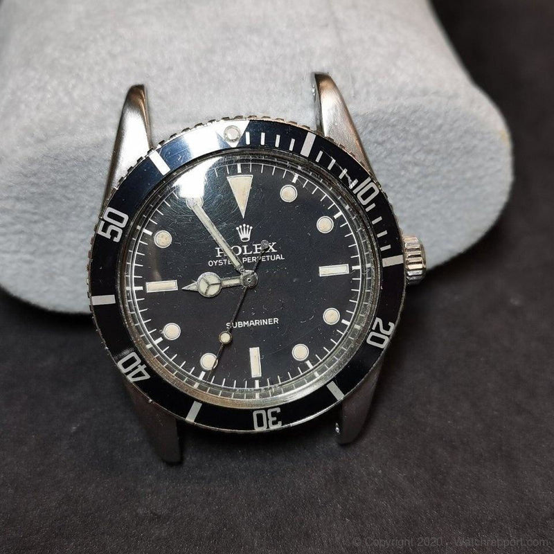 Rolex Submariner - 6205 - Service Bezel Dial Hands Crown - 1954 - Watch Rapport