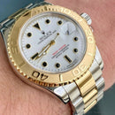 Rolex Yachtmaster 16623 Steel & 18k White Dial 40mm W/ Box And Papers - Watch Rapport