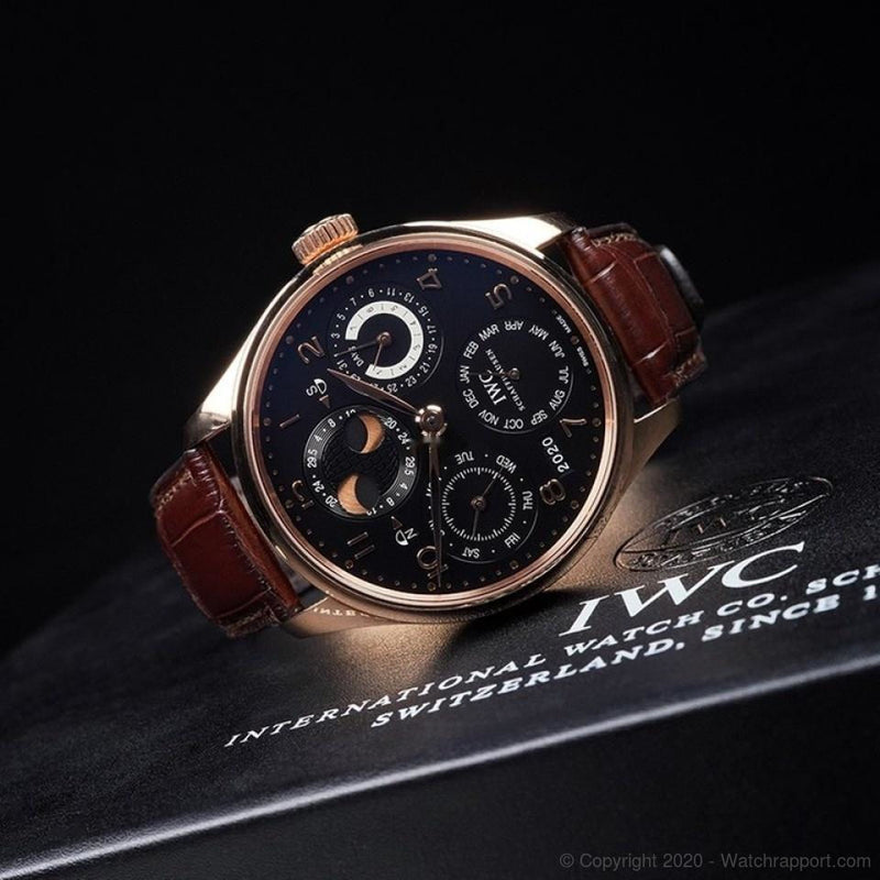 IWC Portuguese Perpetual Calendar Hemisphere Moonphase 18ct - Watch Rapport