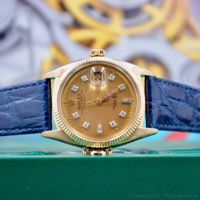 Rolex Datejust Ovettone Diamond Dial - Watch Rapport