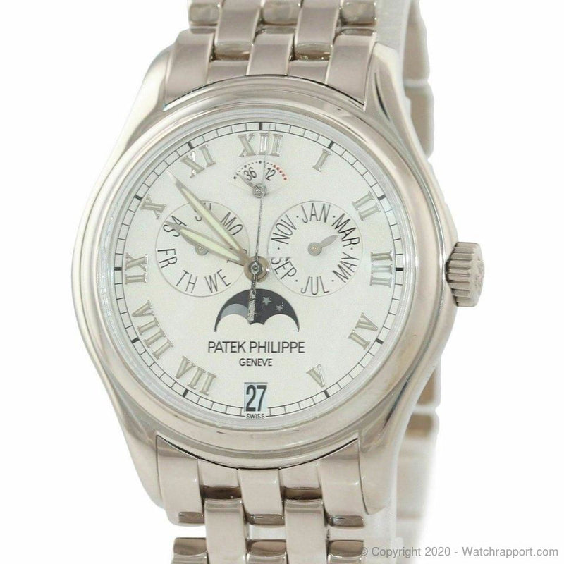Patek Philippe PAPERS Annual Calendar White Gold 37mm 5036g Watch 2020 SERVICED