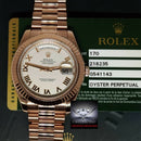 Rolex Day Date II 18k Everose Gold 41mm Roman Dial Watch Box/Papers 218235