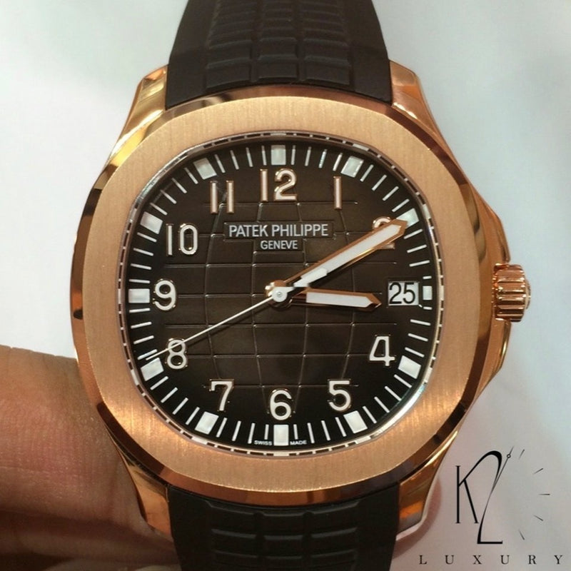 Patek Philippe Aquanaut in Rose Gold and Brown Dial