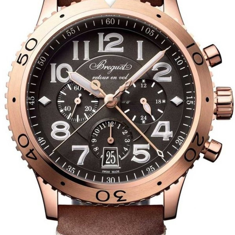 Breguet Brequet Type XX - XXI - XXII 3817 18K Rose Gold Men's Watch 3817BR/Z2/3ZU