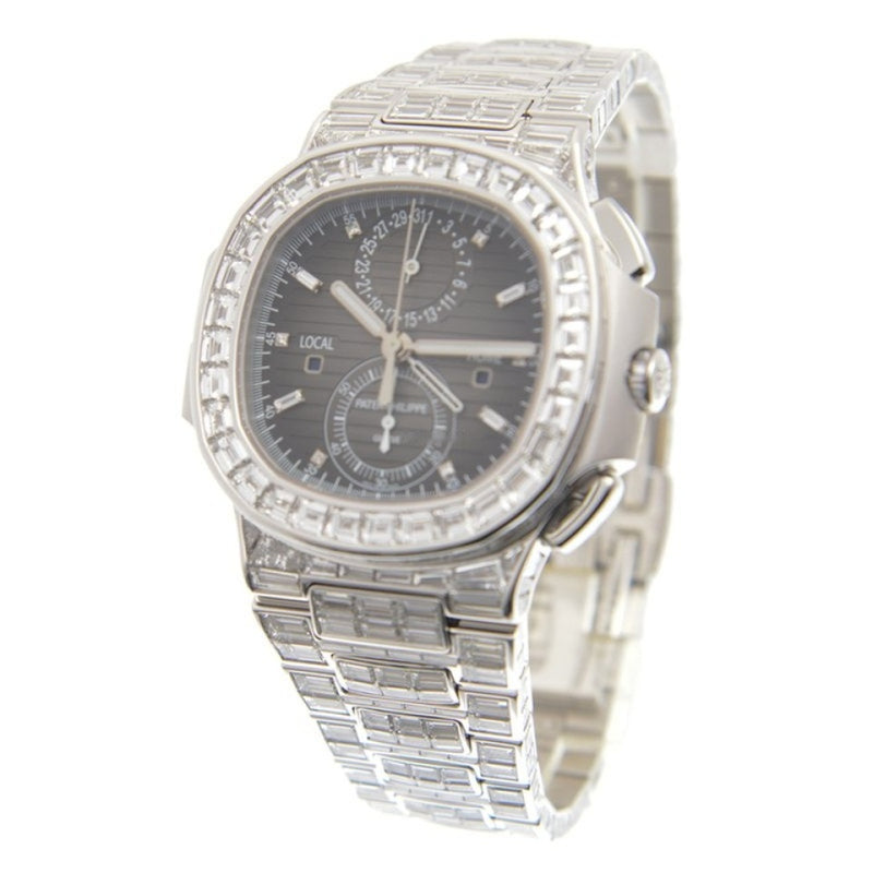 Patek Philippe Nautilus 18kt White Gold & Diamond Black Automatic 5990/1400G-001