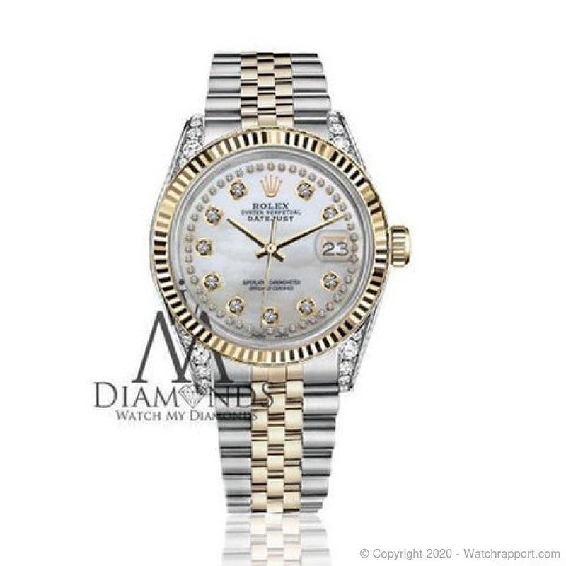 Rolex Datejust 26mm White MOP String Diamond Dial/Lugs 69173 - Watch Rapport