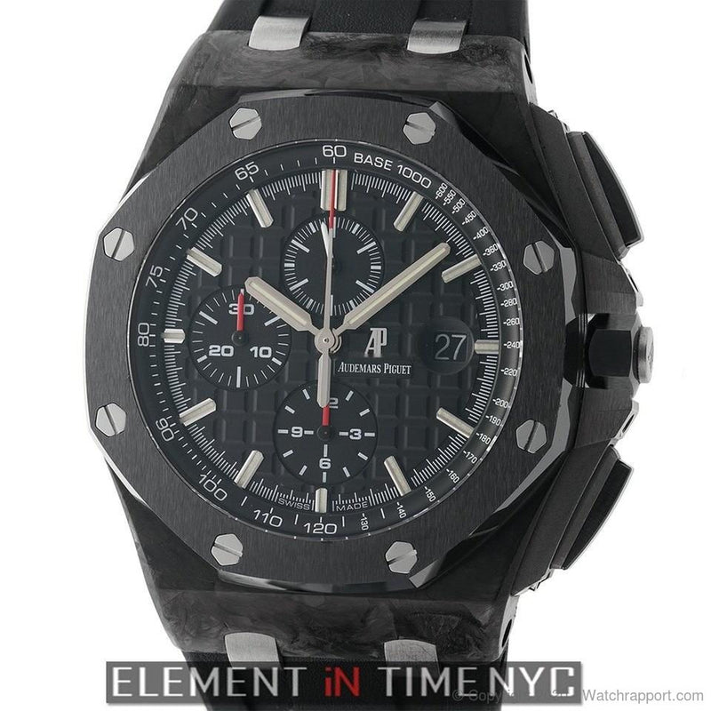 Audemars Piguet Royal Oak Offshore Chronograph Forged Carbon 44mm Ceramic Bezel Black Dial - Watch Rapport