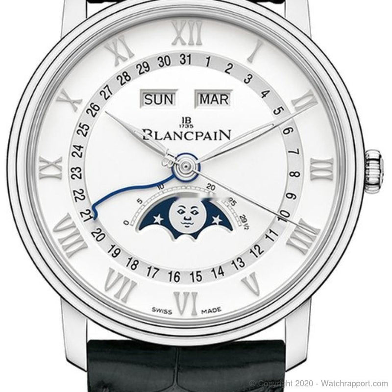 Blancpain Villeret Moonphase & Complete Calendar 40mm 6654a-1127-55b - Watch Rapport