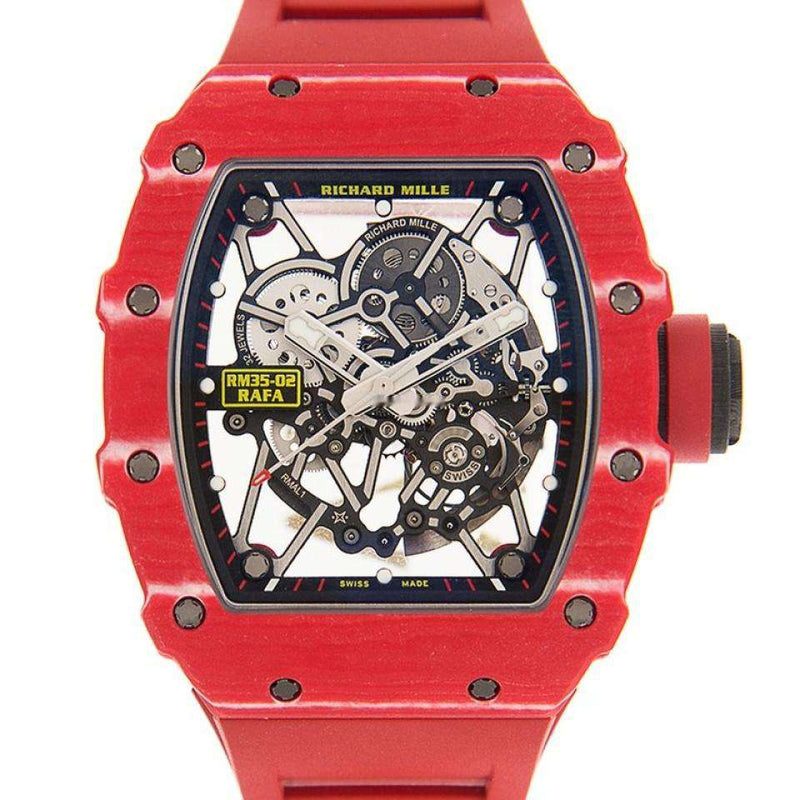Richard Mille Carbon Fiber Transparent Skull Automatic Rm35-02 Fq NTPT