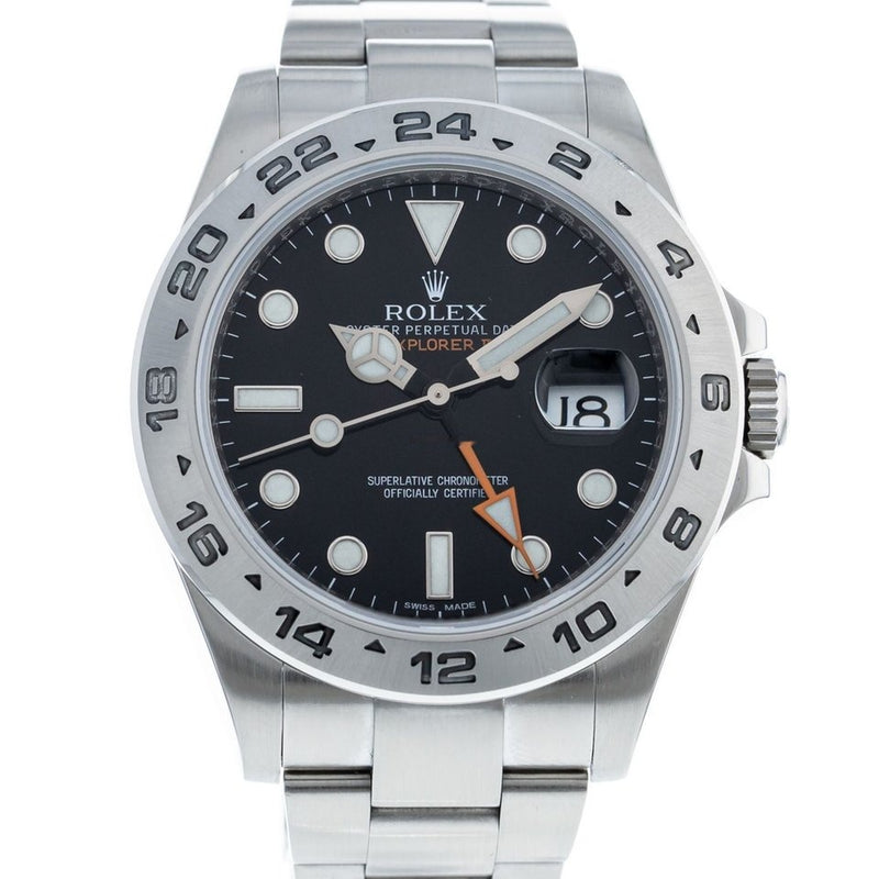 Rolex Explorer II 216570 Watch with Stainless Steel Bracelet and Stainless Steel Bezel
