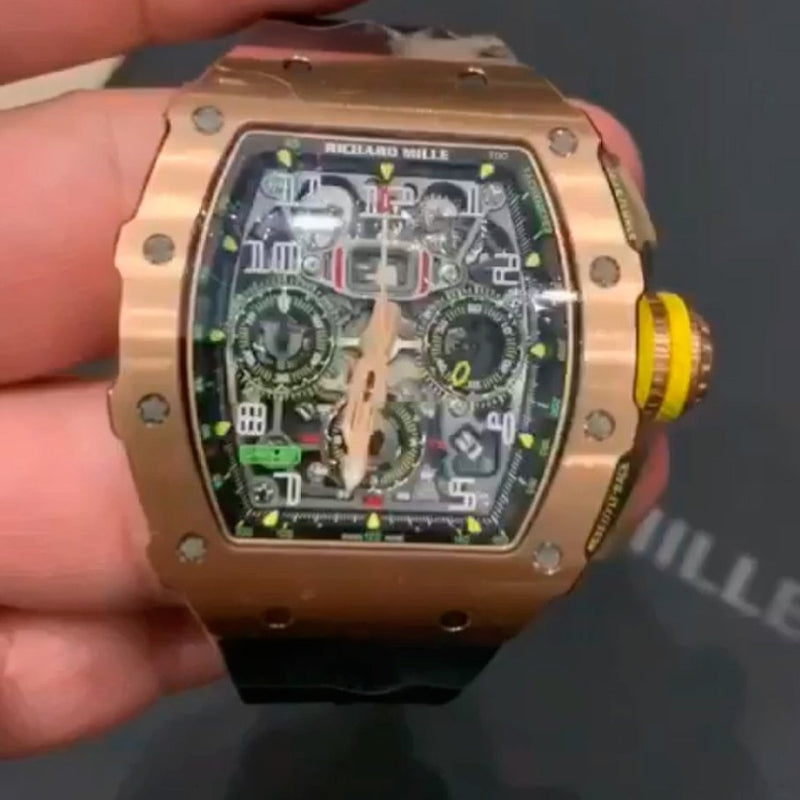 Richard Mille Flyback Chronograph Full Gold
