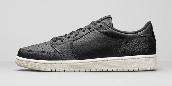 JORDAN 1 LOW - NO SWOOSH BLACK