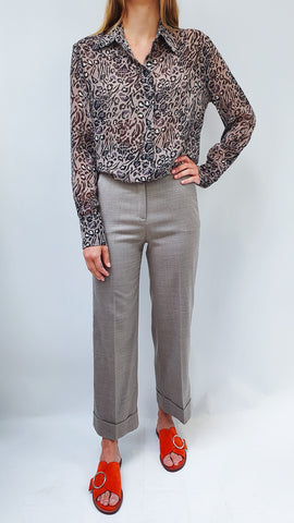 TRUE ROYAL TAUPE COCO TROUSERS