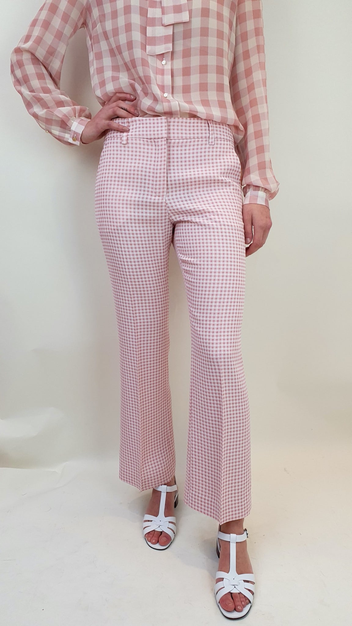 TRUE ROYAL SANDY RIVIERA CHECK TROUSERS