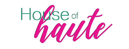 house of haute logo in hot pink and seafoam green.