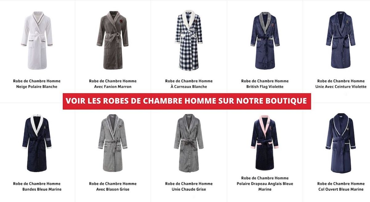 collection robes de chambre homme