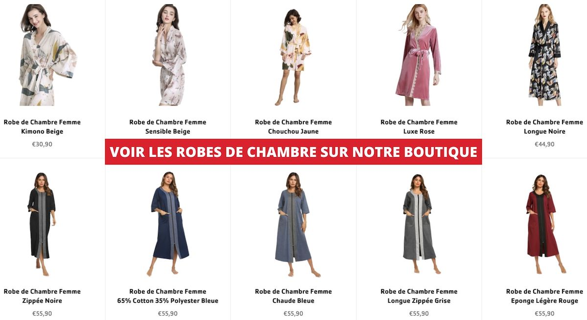 collections robes de chambres