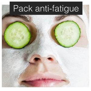 Pack visage anti fatigue (environ 15 applications gommage, 6x masque, 3 mois de crème)