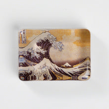 "Load image into Gallery viewer, Glass Paper Weight - Hokusai ""The Great Wave off Kanagawa"""