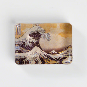 "Glass Paper Weight - Hokusai ""The Great Wave off Kanagawa"""