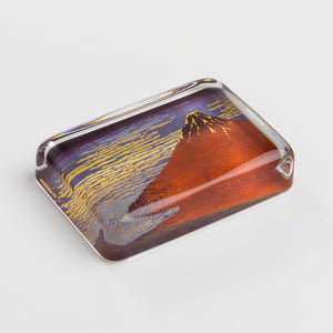"Glass Paper Weight - Hokusai ""Fine Wind, Clear Morning"""