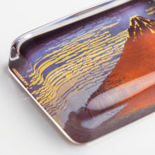 "Load image into Gallery viewer, Glass Paper Weight - Hokusai ""Fine Wind, Clear Morning"""
