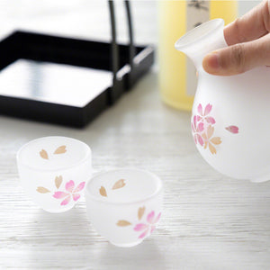 Sake Cups Set with Tray, Made in Japan