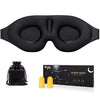 3D Contoured Cup Sleep Mask & Noise Cancelling Foam Earplugs