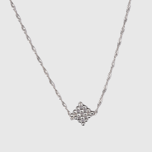 Button Necklace - Silver