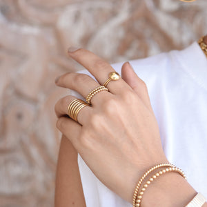 Double Twisted Ring - Gold