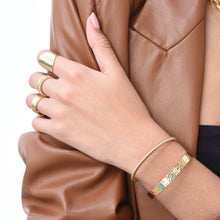 Load image into Gallery viewer, Hammered Bracelet - Gold