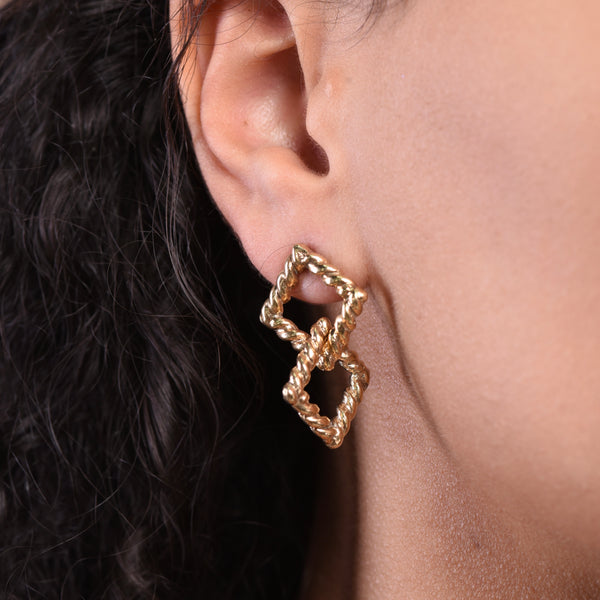 Double Earrings - Gold