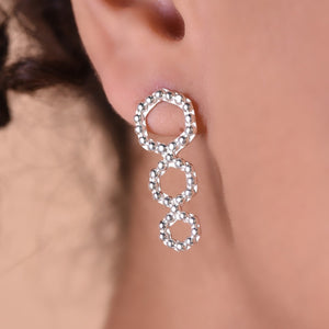 Trexa Earrings - Silver