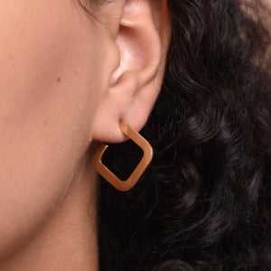 Square Earrings - Gold