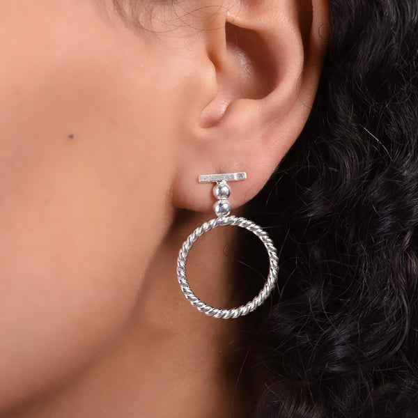 Shapes Earrings - Silver