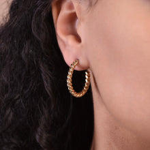 Load image into Gallery viewer, Twisted Hoops - Gold