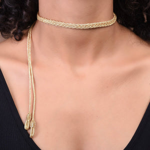 Thin Braided Choker