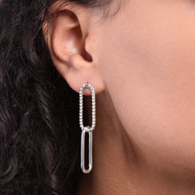 Load image into Gallery viewer, Paperclip Earrings - Silver